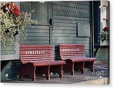 Selective Seating Acrylic Print by Zori Minkova