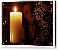 Selena Candle Light And Dead Roses Acrylic Print by Matt Nelson