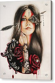 Self Affliction Acrylic Print by Sheena Pike