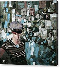 Acrylic Print featuring the painting Self by Anastasija Kraineva