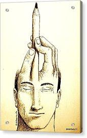Self-expression Acrylic Print by Paulo Zerbato