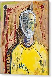 Self Portrait   Acrylic Print by Hans Magden