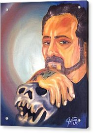 Acrylic Print featuring the painting Self Portrait 2006 by The GYPSY And DEBBIE