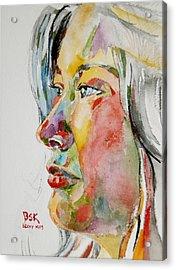 Self Portrait 4 Acrylic Print by Becky Kim