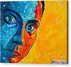 Self Portrait Acrylic Print by Ana Maria Edulescu