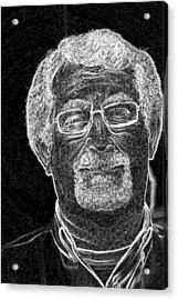 self portrait BW Acrylic Print by Gary Brandes