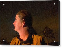 Self Portrait During The Night Of A Fire Acrylic Print