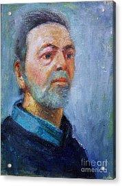 Self Portrait Acrylic Print by George Siaba