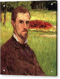 Self Portrait Acrylic Print by Gustave Caillebotte