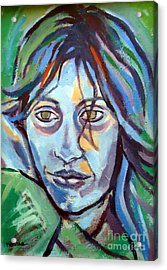 Acrylic Print featuring the painting Self Portrait by Helena Wierzbicki