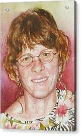 Self Portrait In A Flowered Shirt Acrylic Print