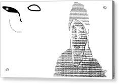 Self Portrait In Text Acrylic Print