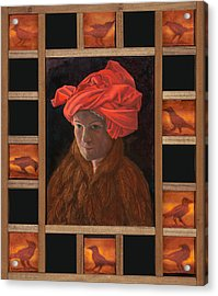 Self-portrait In The Red Turban Acrylic Print