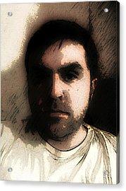 Self Portrait Acrylic Print by Jose Benavides