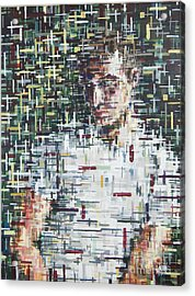 Self Portrait  Acrylic Print by Mark Blome