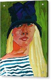 Self-portrait No . 1 Acrylic Print by Janet Ashworth
