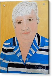 Self Portrait Acrylic Print by Pamela  Meredith