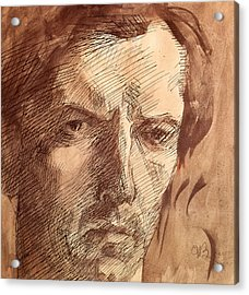 Self Portrait Acrylic Print by Umberto Boccioni
