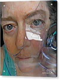 Self Portrait With Broken Glass Acrylic Print