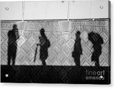 Self Portrait With Muses Acrylic Print by Dean Harte