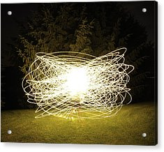 Self Portrait Within Light Swirls 2012 Acrylic Print by Joseph Duba