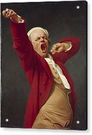 Self-portrait, Yawning, 1783  Acrylic Print by Joseph Ducreux