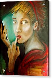 Acrylic Print featuring the painting Selfie by Irena Mohr