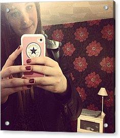 Selfie #room #home #yay #converse Acrylic Print