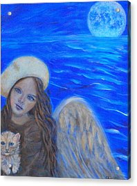 Selina Little Angel Of The Moon Acrylic Print by The Art With A Heart By Charlotte Phillips