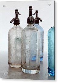 Seltzer Bottles Acrylic Print by Romulo Yanes