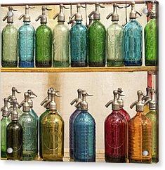 Seltzer Bottles Acrylic Print by Ugur Erkmen