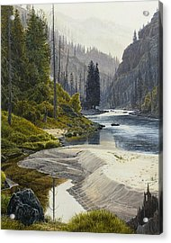 Selway River Acrylic Print by Steve Spencer
