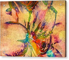 Springtime Floral Abstract Acrylic Print