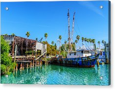 Seminole Trader Shrimp Fishing Boat Acrylic Print