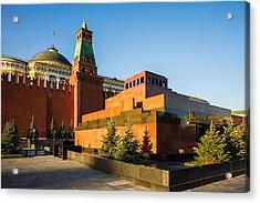 Senate Tower And Lenin's Mausoleum Acrylic Print by Alexander Senin