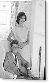 Senator John F. Kennedy And Jacqueline At Hyannis Port 1959 Acrylic Print