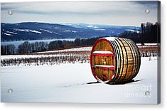 Seneca Lake Winery In Winter Acrylic Print
