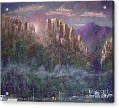 Seneca Sunrise Acrylic Print by Bruce Schrader