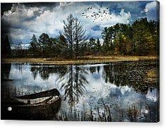Seney And The Rowboat Acrylic Print