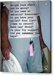 Senior Check List  Acrylic Print