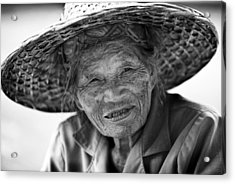Senior Vendor Thai Woman Acrylic Print
