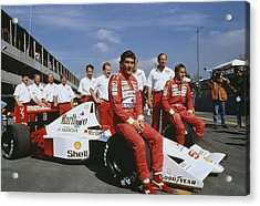 Senna With Mclaren Team Acrylic Print by Getty Images
