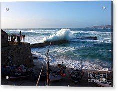 Sennen Cove Harbour Cornwall Acrylic Print by Terri Waters