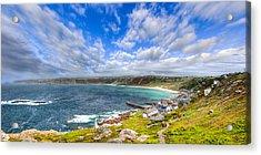 Sennen Cove Panorama - Cornwall Acrylic Print by Mark E Tisdale