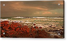 Sennen Storm Acrylic Print by Linsey Williams
