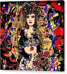 Senorita Florita Acrylic Print by Natalie Holland