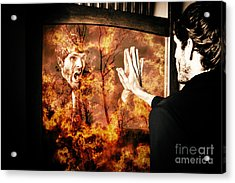 Senses Fail The Lost Touch Of Humanity Acrylic Print
