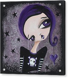 Sentimentally Deranged - Black Star Acrylic Print