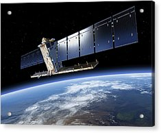 Sentinel-1 Satellite In Orbit Acrylic Print by Atg Medialab/esa