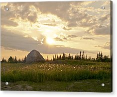 Sentinel Rock Sunset Acrylic Print